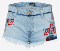 Shorts 'de-Scotch' indigo / rot