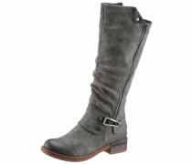 Stiefel aus Kunstleder grau