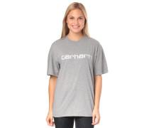 Script T-Shirt grau