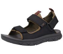 Sandalen hellbraun / schwarz