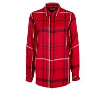 Bluse dunkelblau / rot / rotmeliert