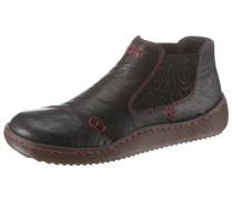 Chelsea boots dunkelbraun / rot