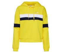 Sweatshirt 'Ella Hoodie' weiß / navy / gelb