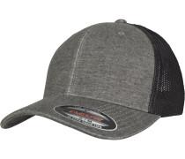 Retro Trucker Cap graumeliert / schwarz