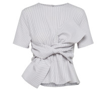 Bluse 'tie Front Striped'