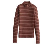 Shirt 'xm19-Ls Slim Mock 4Cc' weinrot