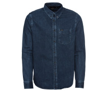 Hemd 'Button Down' blue denim