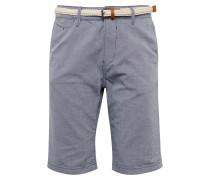 Shorts rauchblau / braun / weiß