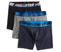 Boxershorts schwarz / blau / basaltgrau