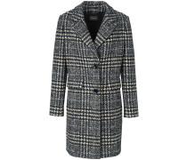 Mantel dunkelgrau / schwarz / wollweiß