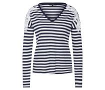 Shirt 'vmmona' blau / weiß