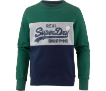 Sweatshirt navy / tanne