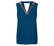 Bluse blau / silber