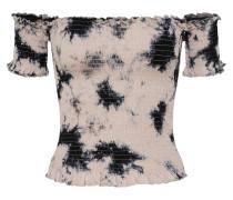 Shirt 'smockcar Batik' rosa / schwarz
