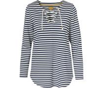 Sweatshirt ultramarinblau / weiß