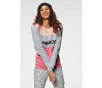 Sweatshirt grau / pink / rosa