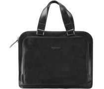 Jade Handtasche Leder 40 cm schwarz