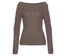 Pullover 'Off-Shoulder' taupe