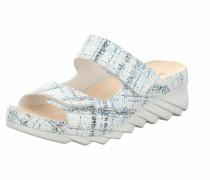Pantolette weiß / blau