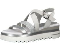 Sandale silber / weiß
