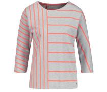 T-Shirt graumeliert / dunkelorange