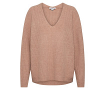 Pullover 'V Neck RIB Wool Sweater' beige