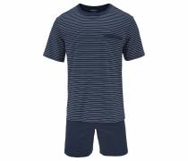 Pyjama kurz Shorty Streifen marine