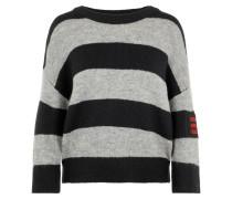 Pullover grau / rot / schwarz