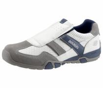 Slipper blau / grau / weiß