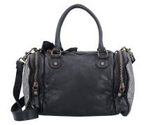 Calla Handtasche Leder 30 cm schwarz