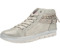 Hohe Sneaker in Metallic-Optik