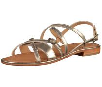Sandalen braun / silber