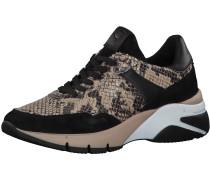 Sneaker dunkelbeige / schwarz