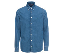 Hemd 'stretch Denim Shirt' blau