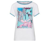 T-Shirt blau / türkis / rosa / weiß