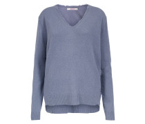 Strickpullover 'boxy V-Neck Destressed'