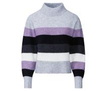 Pullover 'Parko' grau / lila / schwarz