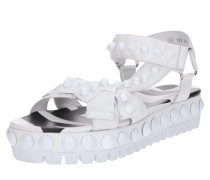 Sandale 'Neo' schwarz / weiß