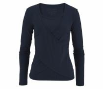 Yoga & Relax Shirt mit Wickeloptik navy