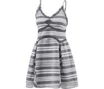 'Sunray 'Trägerkleid grau / weiß