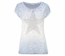 T-Shirt hellblau / silber / weiß