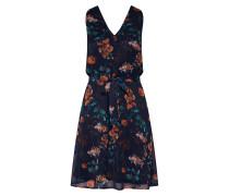 Kleid 'Fiola' nachtblau / jade / koralle