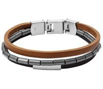 Armband 'Vintage' braun / schwarz / silber