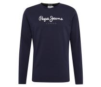 Shirt 'eggo Long' dunkelblau / weiß