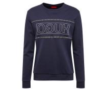 Sweatshirt 'Dicago' dunkelblau / weiß