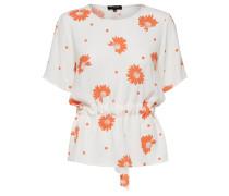 Bluse 'Tanna' orange / weiß