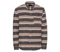 Hemd 'stripe Shirt' grau / orange / schwarz