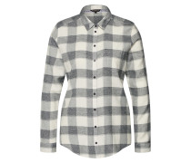 Bluse 'relaxed Check BL' anthrazit