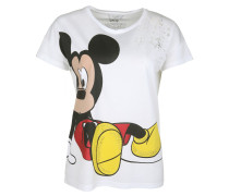 T-Shirt 'Mickey Mouse' weiß