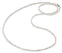 Perlenkette 'ern-80-Pe' silber